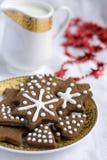 Печенье шоколада рождества формы звезды Стоковые Изображения RF