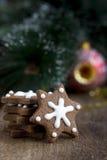 Печенье шоколада рождества формы звезды Стоковые Изображения