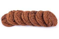 печенье шоколада 3 обломоков Стоковые Изображения RF