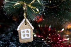 Печенье Gingerbread на рождественской елке Стоковая Фотография RF
