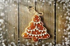 Печенье gingerbread рождества домодельное иллюстрация штока