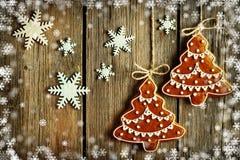 Печенье gingerbread рождества домодельное иллюстрация вектора