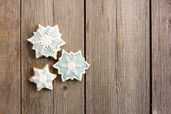 Печенье gingerbread рождества домодельное Стоковые Фотографии RF