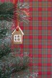 Печенье gingerbread рождества на рождественской елке Стоковые Изображения