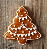Печенье gingerbread рождества домодельное Стоковое Изображение