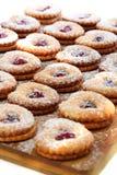 Печенье Linzer. Стоковая Фотография
