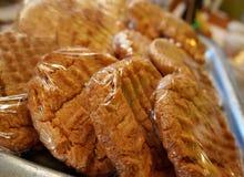 Печенья арахисового масла свежие на хлебопекарне Стоковое Изображение