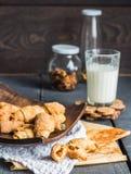 Печенья бейгл сыра от короткого печенья свертывают, доят, десерт Стоковая Фотография RF