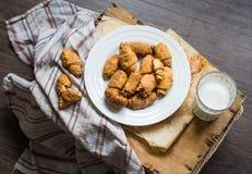 Печенья бейгл сыра от короткого печенья свертывают, доят, десерт Стоковые Изображения RF