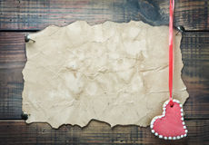Печенья Валентайн в форме сердца Стоковые Изображения