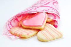 Печенья Валентайн в форме сердца Стоковое Фото