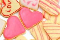 Печенья Валентайн в форме сердца Стоковая Фотография
