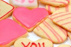 Печенья Валентайн в форме сердца Стоковая Фотография RF