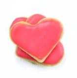 Печенья Валентайн в форме сердца Стоковое фото RF