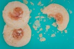 Печенья варенья клубники Стоковое фото RF