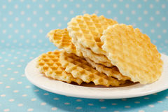 Печенья вафли на плите Стоковое Изображение