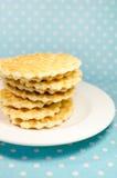 Печенья вафли на плите Стоковые Фото
