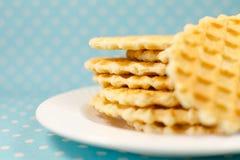 Печенья вафли на плите Стоковые Изображения RF