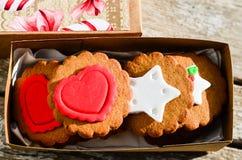 Печенья валентинки Стоковые Изображения