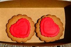 Печенья валентинки Стоковая Фотография