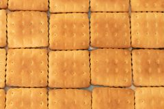 Печенья вкусны и crumbly как сладкая скатерть на таблице стоковая фотография rf