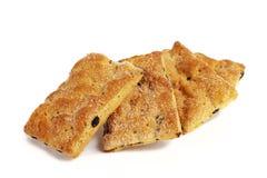 Печенья выпечки с изюминками Стоковые Фото