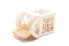 Печенья в высекаенном оригинале пакуют изолированный на белой предпосылке Стоковые Фотографии RF