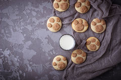 Печенья в форме лапки котов Стоковые Изображения RF