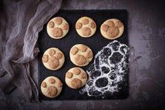 Печенья в форме лапки котов Стоковое Изображение RF