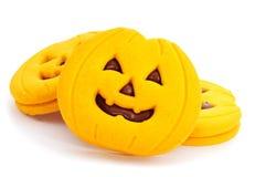 Печенья в форме Джек-o-фонариков Стоковое Изображение RF