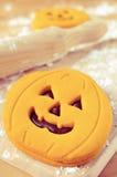 Печенья в форме Джек-o-фонариков Стоковое фото RF