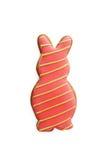 Печенья в форме изолированного кролика, Стоковая Фотография RF