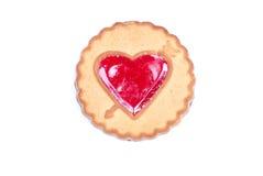 Печенья в форме изолированного сердца к дню валентинки Стоковое Фото
