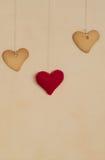 Печенья в форме сердца на предпосылке Стоковое фото RF