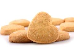 Печенья в форме сердца Стоковые Изображения RF
