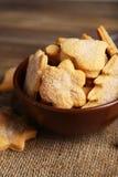 Печенья в шаре на коричневой деревянной предпосылке Стоковые Фото