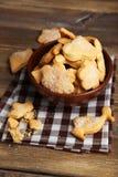 Печенья в шаре на коричневой деревянной предпосылке Стоковые Изображения