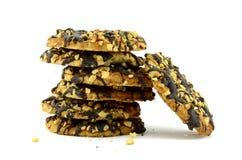 Печенья в шоколаде изолированный объект на белизне Стоковая Фотография RF