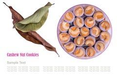 Печенья гайки анакардии Стоковое Изображение