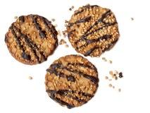 Печенья гайки и шоколада Стоковое Фото