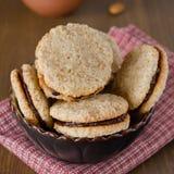 Печенья грецкого ореха в шаре Стоковое Изображение RF