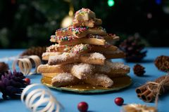 Печенья дерева пряника рождества Стоковое фото RF