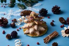 Печенья дерева пряника рождества Стоковые Изображения