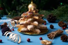Печенья дерева пряника рождества Стоковое Изображение