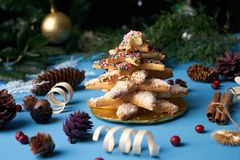 Печенья дерева пряника рождества Стоковое Изображение RF