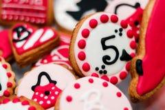 Печенья для девушки barbie стоковые фотографии rf
