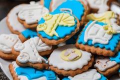 Печенья для дня рождения ребенка Стоковые Изображения