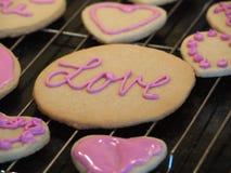 Печенья дня валентинок сердца Стоковое Фото