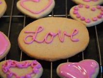 Печенья дня валентинок сердца Стоковые Фото