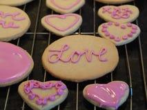 Печенья дня валентинок сердца Стоковое Изображение RF